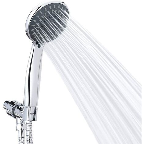 """main image of """"LITZEE Hand Shower Massage Jets Spa Removable Chrome Face Handheld Shower Head with Long Hose and Adjustable Bracket"""""""