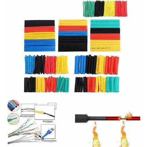 LITZEE Kit de 164 gaines thermorétractables pour isolation électrique, 5 couleurs et 8 tailles