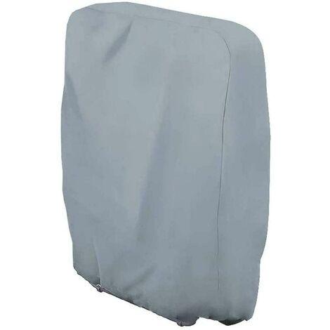 LITZEE La housse de protection - Housse de protection pour chaise longue pliante, chaise longue, imperméable, anti-UV, meubles de jardin, protection contre les intempéries et les dommages 210D Oxford 110 cm x 71 cm Taille unique - Gris