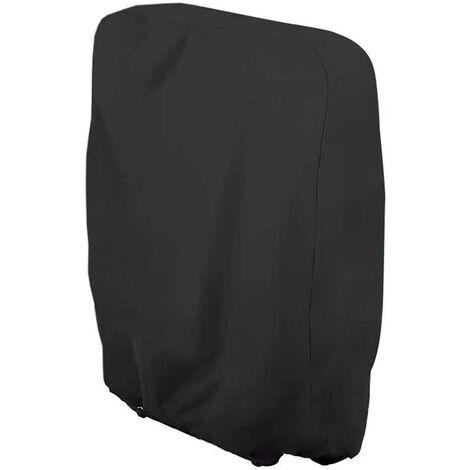 LITZEE La housse de protection - Housse de protection pour chaise longue pliante, chaise longue, imperméable, anti-UV, meubles de jardin, protection contre les intempéries et les dommages 210D Oxford 110 cm x 71 cm Taille unique - Noir