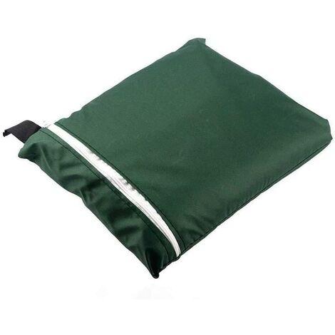 LITZEE La housse de protection - Housse de protection pour chaise longue pliante, chaise longue, imperméable, anti-UV, meubles de jardin, protection contre les intempéries et les dommages 210D Oxford 110 cm x 71 cm Taille unique - Vert