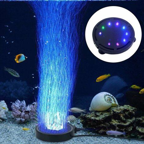 LITZEE Lampe à bulles pour aquarium avec pompe à air LED pour décoration de tortue