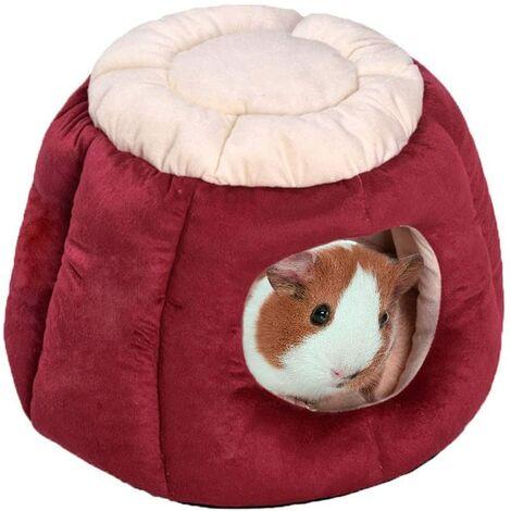 LITZEE Lit chaud pour cochon d'Inde - En forme de coffre - Pour lapin et chat