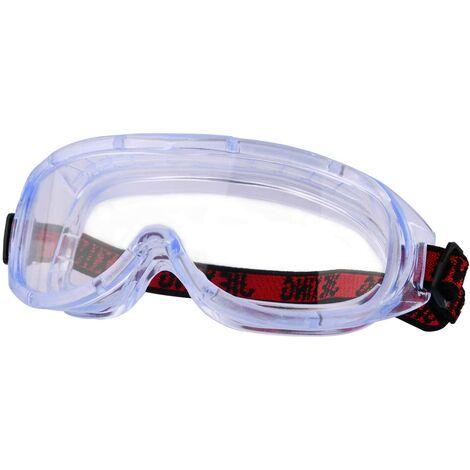 LITZEE Lunettes de sécurité parfaites, Lunettes Anti-buée à Vision intégrale, également pour Les porteurs de Lunettes, Anti-Rayures et incassables, pour Chantiers de Construction, laboratoires et ateliers