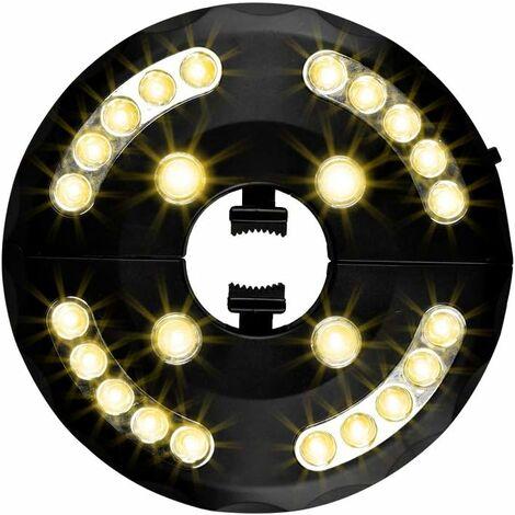 """main image of """"LITZEE Luz de sombrilla de jardín, Luz de sombrilla de patio, 24 LED, 3 modelos de iluminación, Luz de sombrilla de patio, Jardín, Sombrilla grande (luz cálida)"""""""