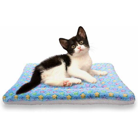 LITZEE - Mantas suaves para dormir para perros y gatos, tamaño 4, 4 colores, azul más grueso, mediano