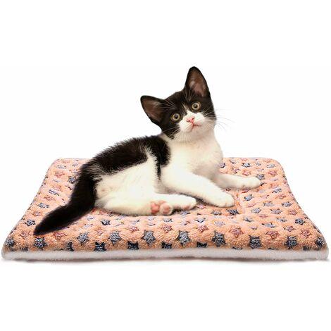 LITZEE - Mantas suaves para dormir para perros y gatos, tamaño 4, 4 colores, marrón más grueso, mediano
