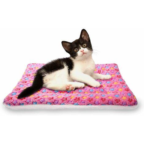 LITZEE - Mantas suaves para dormir para perros y gatos, tamaño 4, 4 colores, rosa más grueso, mediano