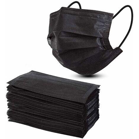 LITZEE Mascarilla desechable 50, 3 capas Máscaras de seguridad cómodas para protección contra el polvo