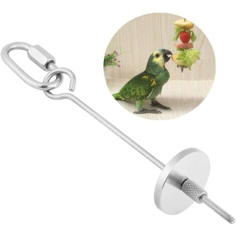 """main image of """"LITZEE Parrot Food Skewer, Parrot Fruit Vegetable Food Stick Holder Small Animal Hutch Cage Foraging Toy Parrots Handling Tool (S)"""""""