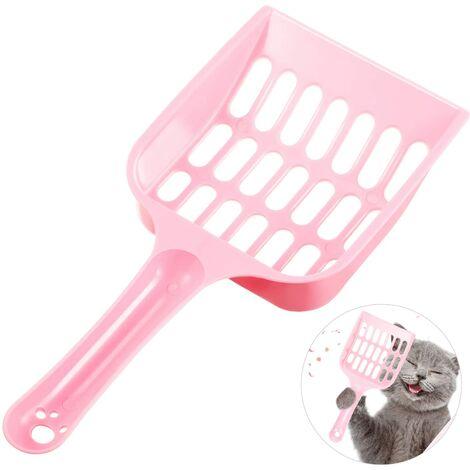 LITZEE Pelle à Litière pour Chat en Plastique Pelle à Litière Kitty Pelle à Litière pour Animaux de Compagnie Tamis pour Litière pour Animaux de Compagnie pour Nettoyage des Toilettes de Sable de Chat