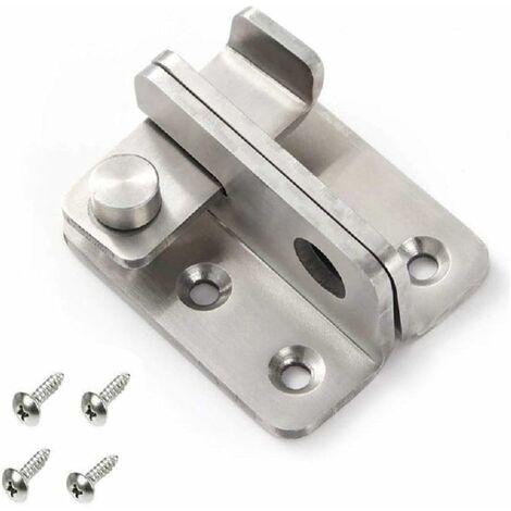 LITZEE Pestillo de cerrojo para candado de cerradura de puerta pequeña, cerradura de palanca de candado de acero inoxidable, cerraduras de seguridad para puertas, abiertas a la izquierda