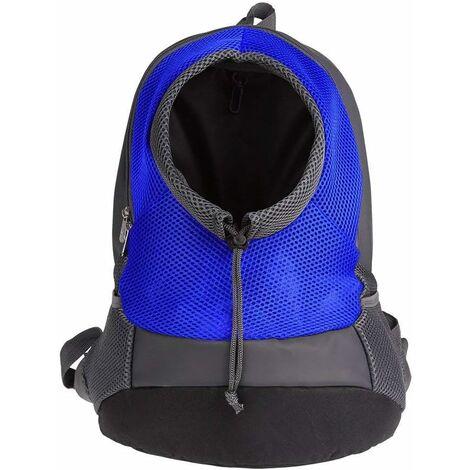 LITZEE Pet Small Dog Cat Puppy Mochila Transportín (máx.8 kg) Bolsa de viaje transpirable con malla suave para adultos 42 * 38 * 20 cm - azul