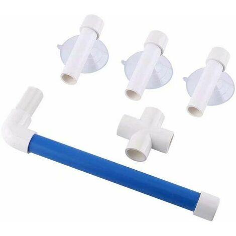 LITZEE plegable loro percha pájaros baño barra percha 3 ventosa ventana bañera montado en la pared soporte de lijadora juguetes