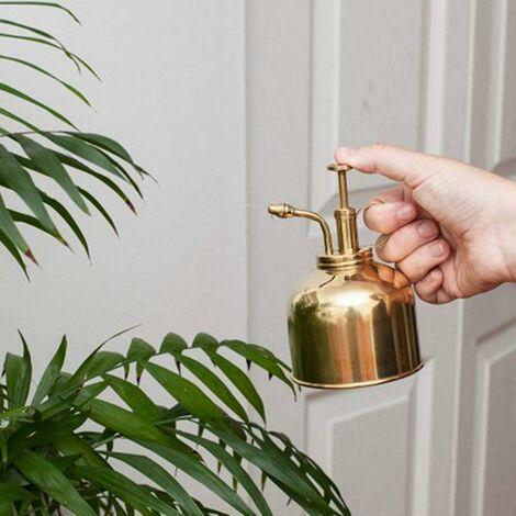 LITZEE Pot De Pulvérisation De Jardinage, Arrosoir En Laiton Vintage, Mini Arrosoir Pour Plantes Succulentes Avec Arrosage à Pompe