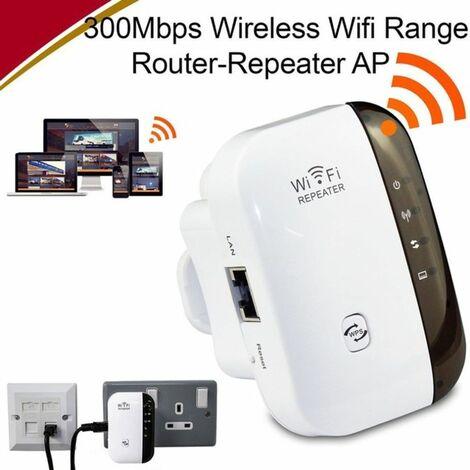 LITZEE Répéteur Wi-Fi 300 Mbit/s, 2,4 GHz, extendeur réseau avec grande portée, port Ethernet, WPS, mode AP, installation facile, compatible avec tous les appareils WLAN) Prise UE