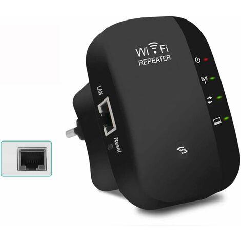 LITZEE Répéteur WLAN, amplificateur WLAN Amplificateur d'extension de signal réseau sans fil 300 Mbit / s, amplificateur de signal WiFi avec bouton WPS / mode AP / prise EU Amplificateur WLAN Compatible avec tous les appareils WLAN