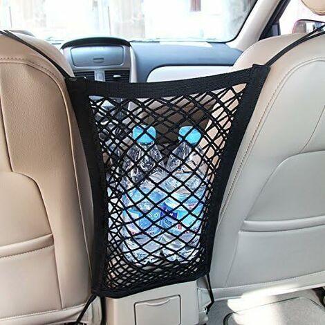 """main image of """"LITZEE Rete da carico con 2 scomparti per l'auto Rete spessa per riporre borse, cellulari e giocattoli(Doppio strato)"""""""