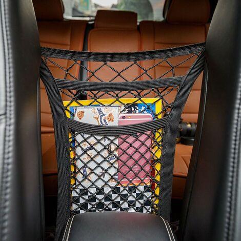 """main image of """"LITZEE Rete da carico con 2 scomparti per l'auto Rete spessa per riporre borse, cellulari e giocattoli(Tre piani)"""""""