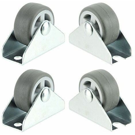 LITZEE Ruedas giratorias universales Soporte para disco duro Mini rueda de 1 pulgada (32 mm