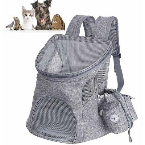 LITZEE Sac à Dos de Transport pour Chien et Chat pour Animal de Compagnie Pet Carrier pour Petit Pet en Plein Air Randonnée Camping -45x36x31cm