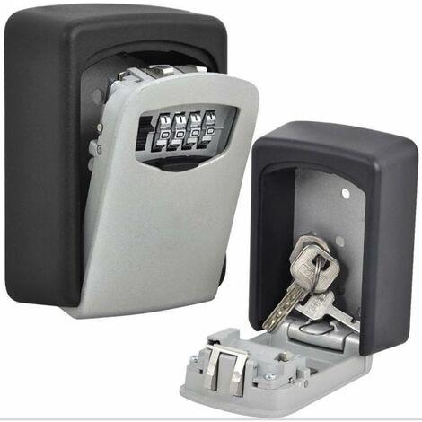 LITZEE Serrure à clé Boîte de Stockage de Grande capacité Boîte Peut contenir jusqu'à 5 Touches pour l'extérieur Master Key avec Coque étanche à Fixer au Mur pour Les Maisons, Business