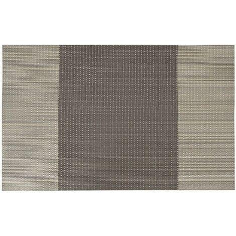 """main image of """"LITZEE Set di 6 Tovagliette in PVC Lavabile Antiscivolo Ecologico, 30 x 45 cm - Coffee Stripe"""""""