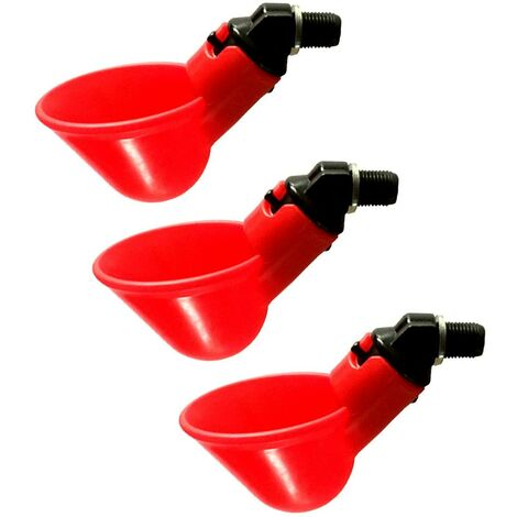 """main image of """"LITZEE Set of 3 automatic drinkers for chicks, quails, ducks and other poultry"""""""