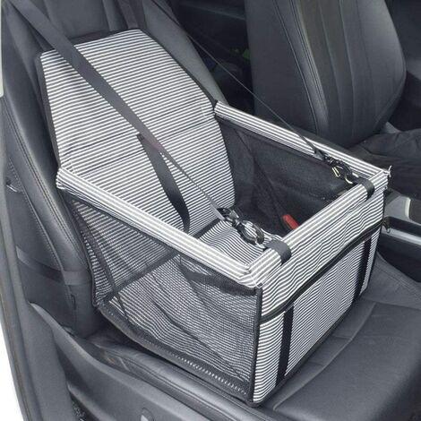 LITZEE Siège auto pour chien - Imperméable - Couverture pour animal de compagnie - Siège arrière et siège avant - Sac de transport pour petits chiens et chats