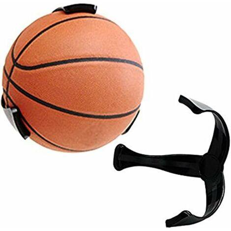 LITZEE Support mural pour ballon de basketball, volley, football Économiseur d'espace pour panier de basket