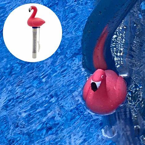 LITZEE Termómetro para piscina, termómetro para lavabo de agua Termómetro para piscina para pood Spas interiores y exteriores, bañeras de hidromasaje (Flamingo)