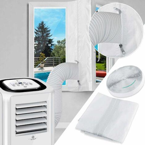 LITZEE Tissu De Calfeutrage pour Fenêtres pour Climatiseur Portatif et Sèche-Linge - Fonctionne avec Toutes Les Unités de Climatisation Mobiles, Installation Facile - 400CM