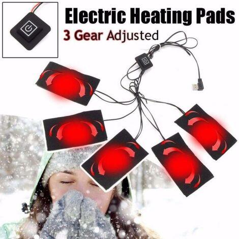 LITZEE USB électrique veste chauffante coussin chauffant en plein air thermique hiver chaud automne équipement chauffant gilet chauffant coussinets pour bricolage vêtements chauffants