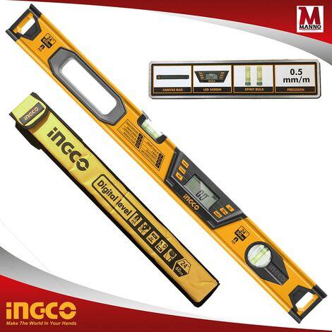 "main image of ""Livella digitale magnetica 60 cm borsa Schermo led - Ingco HSL08060D"""