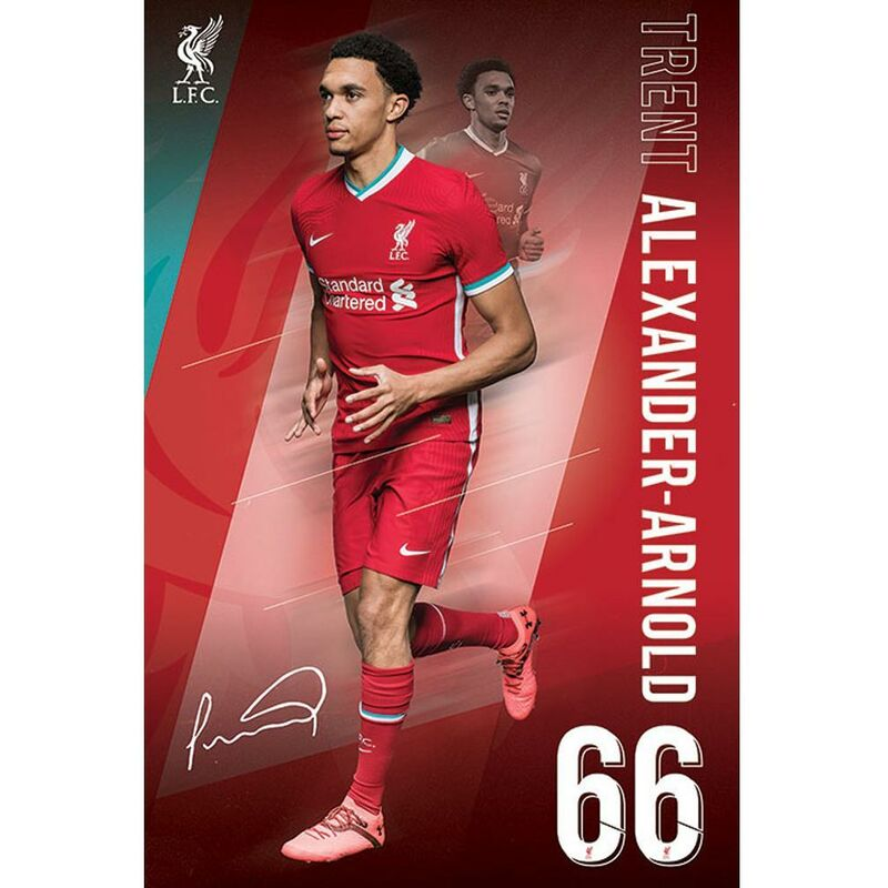 Image of Alexander-Arnold Poster (One Size) (Red) - Liverpool Fc