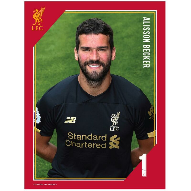 Image of Alisson Print (One Size) (Multicoloured) - Liverpool Fc