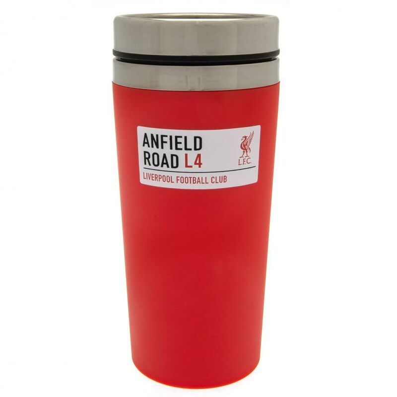 Image of Anfield Road Travel Mug (One Size) (Red) - Liverpool Fc
