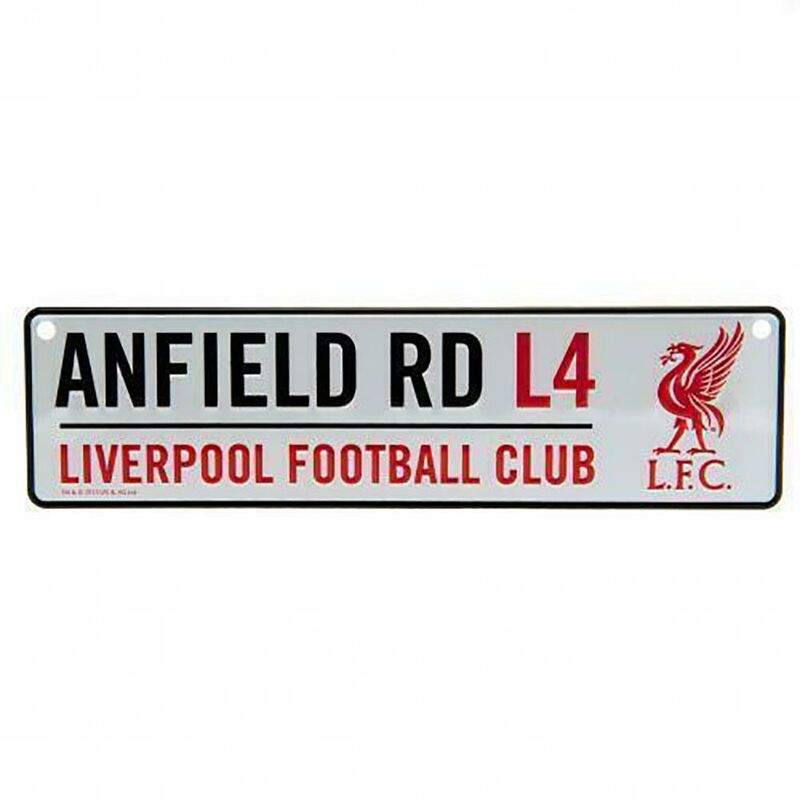 Image of Anfield Window Sign (One Size) (Silver/Red/Black) - Liverpool Fc