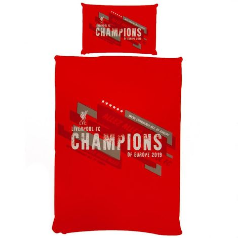 Liverpool FC Champions Of Europe Duvet Set (Single) (Red)