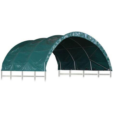 Livestock Tent PVC 3.7x3.7 m Green