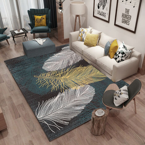 """main image of """"Living room mat, coffee table, bedroom mat, floor mats, bedside mats, washable carpet resistant to dirt 120 * 160cm A"""""""