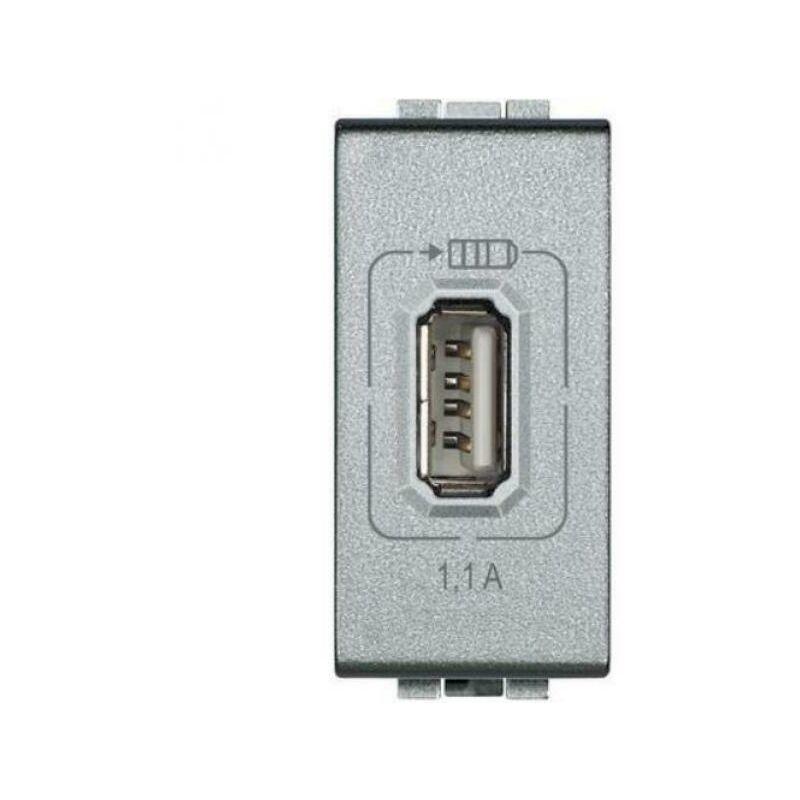 BTICINO LIVING LIGHT N4285C1 USB RICARICA BIANCO