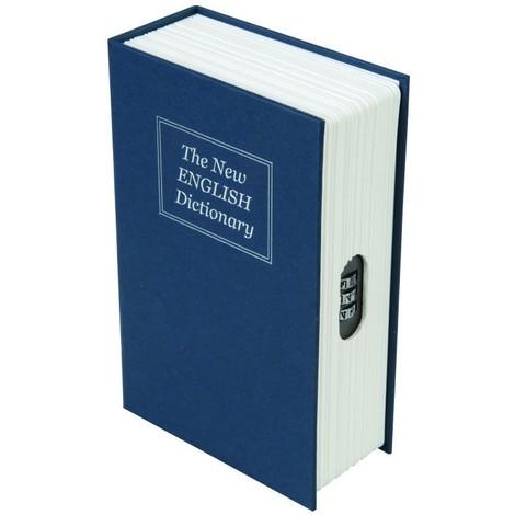 Livre coffre-fort avec combinaison à 3 chiffres 180 x 115 x 55 mm