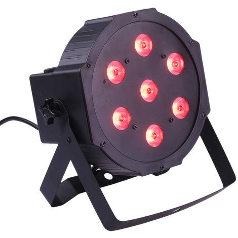 Lixada, 4 en 1 RGBW LED Stage PAR Luz de iluminacion estroboscopica,5/8 canales,70W AC100-240V