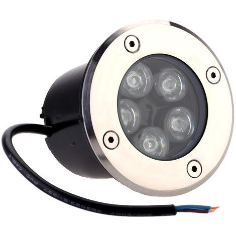 Lixada, 5W, Lampara LED subterranea enterrada para patio, Foco, CA 85-265V,Luz azul