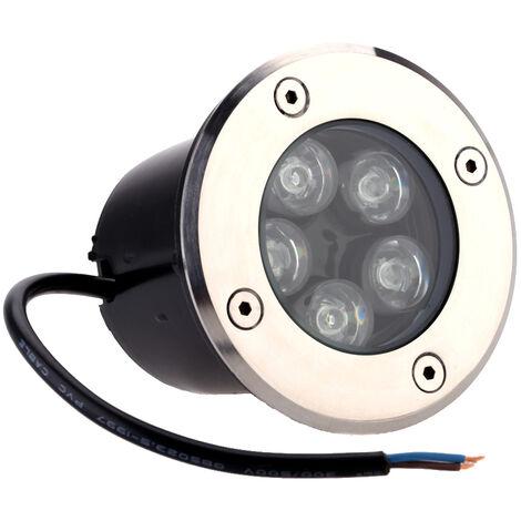 Lixada 5W LED exterieur au sol Allee de jardin Lampadaire de jardin souterrain Buried spot lumiere paysage IP67 etanche AC 85-265V