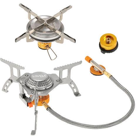 Lixada camping plegable Cocina de gas Conjunto con adaptador de cabezal de conversion de gas