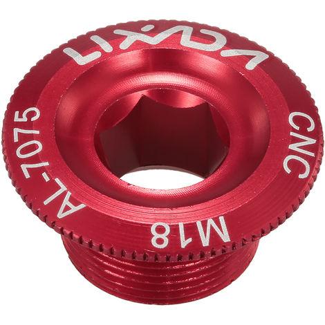 Lixada De M18 Velo Vtt Crank Boulon Creux De Fixation Manivelle Bras Boulon Vis En Alliage D'Aluminium, Rouge, Diametre 18 Mm