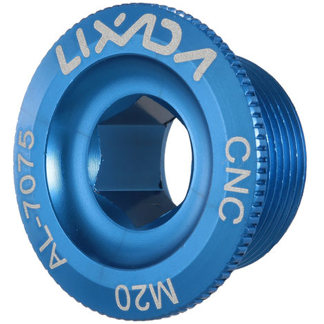 Lixada De M20 Velo Vtt Crank Boulon Creux De Fixation Manivelle Bras Boulon Vis En Alliage D'Aluminium, Bleu, Diametre 20 Mm