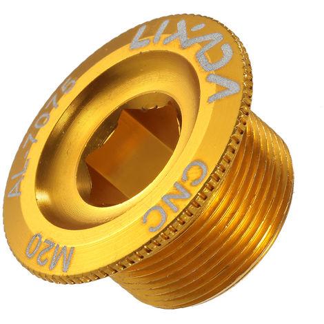 Lixada De M20 Velo Vtt Crank Boulon Creux De Fixation Manivelle Bras Boulon Vis En Alliage D'Aluminium, Gold , Diameter 20Mm